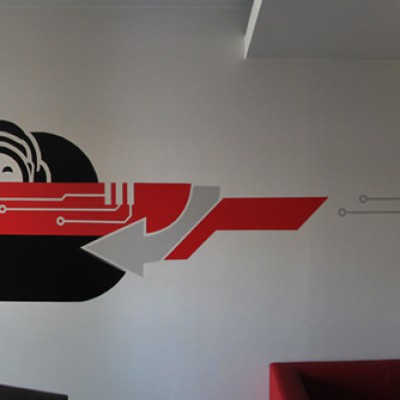 Interior office painting for nokaut.pl